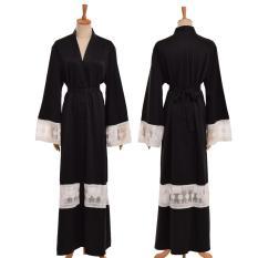 Baru Kaftan Muslim Abaya Lengan Panjang Islam Maxi Dress Wanita Jubah Panjang dengan Pinggang-Intl