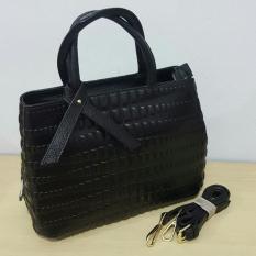 New Koleksi Terbaru Tas Hand Bag Wanita Fashion Premium #9508 Import Hongkong Kulit Asli
