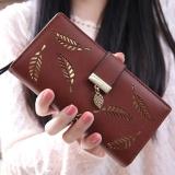 Harga Wanita Korea Baru Lady Panjang Dompet Fashion Panjang Dompet Clutch Pemegang Kartu Koin Dompet Handbags Daun Bentuk Berongga Kopi Intl Oem Ori