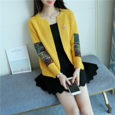 Harga New Korean Women S Sweater Cardigan Coat Sweater Female Fashion Yellow Intl Terbaik