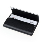 Toko New Leather Business Credit Card Name Id Card Holder Case Wallet Box Bk Intl Termurah Tiongkok
