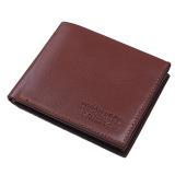 Review Toko Kulit Baru Pria Slim Tipis Bifold Dompet Id Kartu Kredit Boy Holder Dompet Koin Tas Horizontal Dompet Coklat Internasional