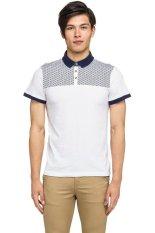 Jual New Look Cut Sew Printed Polo Putih Branded Original