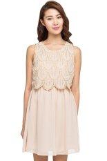New Look Tier Beaded Shift Dress Pink Indonesia Diskon