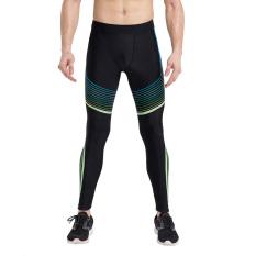 Harga Vansydical Pria Kompresi Celana Colorful Dicetak Legging Fitness Celana Elastisitas Tinggi Cepat Kering Yoga Celana Sport Celana Hitam Hijau Baru