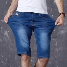 Tips Beli Pria Wanita Model Mid Celana Dicuci Celana Denim Lima Poin Tinggi Stretch Short Jeans Kasual Siswa Shhort Pants Summer Fz323 Intl