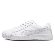 Spesifikasi New Men Fashion Pu Leather Face Low Top Sneakers Casual Travel Men Shoes Mesh Sneakers Sports Shoes Intl