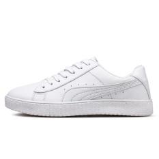 Pusat Jual Beli New Men Fashion Pu Leather Face Low Top Sneakers Casual Travel Men Shoes Mesh Sneakers Sports Shoes Intl Tiongkok