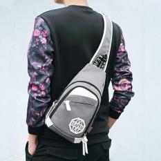 Pusat Jual Beli Baru Men Leisure Travel Bag Schoolbag Chest Pack Outdoor Sports Sling Bag Bersepeda Shoulder Bag Grey Intl Tiongkok