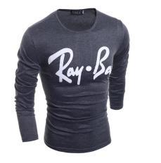 Jual Baru Pria T Shirt T Shirt Lengan Panjang Bermotif Huruf T Shirt Abu Abu Not Specified Online
