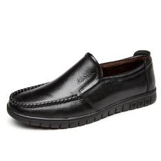 Pusat Jual Beli Baru Pria Comfort Plus Velvet Sepatu Tebal Hangat Solid Warna Bisnis Kasual Kulit Kapas Sepatu Intl Tiongkok