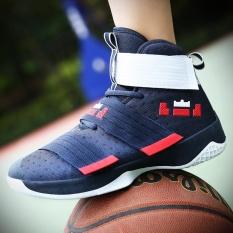 Cara Beli Olahraga Pria Baru Sepatu Tinggi Untuk Membantu Sepatu Santai Bernapas Mesh Kamuflase Kompetisi Bola Basket Sepatu Intl