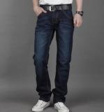 Beli Baru Pria Celana Denim Hitam Stylish Slim Lurus Kasual Katun Jeans Celana Nyicil