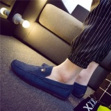 Beli New Men S Casual Moccasin Mengemudi Slip On Suede Peas Sepatu Kulit Fashion Solid Biru Kredit Tiongkok