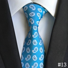 Toko Baru Pria Formal Paisley Dasi Klasik Floral Polyester Sutra Dasi Untuk Bisnis Pesta Pernikahan Vintage Tie Biru Termurah Tiongkok