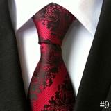 Harga Baru Pria Formal Paisley Dasi Klasik Floral Polyester Sutra Dasi Untuk Bisnis Pesta Pernikahan Vintage Tie Maroon Seken