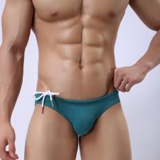 Baru Pria Berenang Trunks Menambatkan Celana Pendek Ramping Baju Renang-Internasional By De-Diamond.