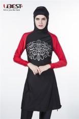 Baru Muslim Wanita Muda Muslim Baju Renang Pantai Mandi Setelan Muslimah Baju Renang Islami Berenang Berselancar Pakaian Burkini-Internasional