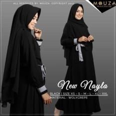 NEW NAYLA SERIES BY MOUZA/GAMIS SET BLACK/SIZE XL-XXL/M Murah