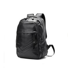 Dimana Beli Baru Baru Pu Leather Preppy Style Backpack Pria Modis Tas Perjalanan Miring Ritsleting Tas Hitam Intl Oem