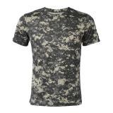 Model Baru Outdoor Berburu Kamuflase T Shirt Pria Bernapas Tentara Taktis Tempur T Shirt Militer Kering Sport Camo Camp Tees Acu Grey Terbaru
