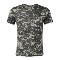 Tips Beli Baru Outdoor Berburu Kamuflase T Shirt Pria Bernapas Tentara Taktis Tempur T Shirt Militer Kering Sport Camo Camp Tees Acu Grey