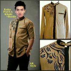 Harga New Pasya Khaki Ak Pakaian Koko Pria Rayon Khaki Origin