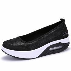 Jual Baru Populer Canvas Wanita Sepatu Casual Perempuan Bernapas Sepatu Lady Tinggi Meningkat Fashion Shake Sepatu Intl Lengkap
