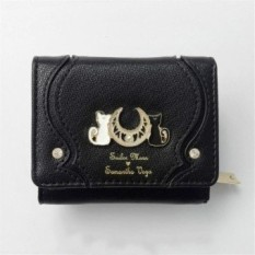 New Samantha Vega Sailor Moon 20Th Anniversary Luna Cat Coin Bagpurse Wallet - Black Color - intl