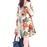 Jual Lima Bintang Store Baru Linen Lengan Baju Seksi Wanita Bunga Panjang V Leher Begitu Malam Pesta Aprikot Gaun Mini Bang Bang Pendek Internasional Online Hong Kong Sar Tiongkok