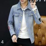 Jual Beli Baru Kasual Siswa Cowboy Jaket Pria Korea Terbaru Tahun Slim Tampan Musim Semi Dan Musim Gugur Tipis Jaket 4 Intl