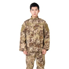 New Style Army Military Uniform Tactical Suit Equipment BDU Desert Camouflage Combat Airsoft CS Hunting Uniform Clothing Set Jacket Pants(Nomad) - intl