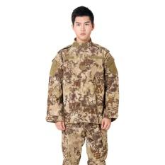 Gaya Baru Seragam Militer Tentara Setelan Taktis Peralatan Bdu Gurun Topi Tempur Kamuflase Airsoft CS Seragam Berburu Pakaian Set Jaket Celana (Nomad)-Intl