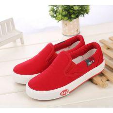 Spek Baru Gaya Klasik Warrior Sneakers Merah Intl Warrior