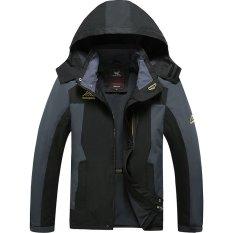 Harga Gaya Baru Fashion Casual Outdoor Sport Jaket Cepat Kering Camping Hiking Jaket Tahan Air 8828 Hitam Internasional Dan Spesifikasinya