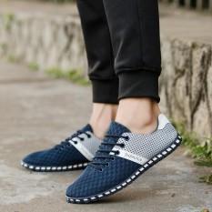 Gaya Baru Fashion Pria Kasual Mesh Nyaman Bernapas Sneakers Flat Shoes Intl Not Specified Diskon