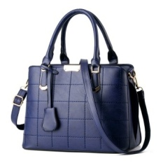New Style Fashion Portable Bag Top Handle Bag Crossbody Bag with Removeble Strap PU Leather (blue) - intl