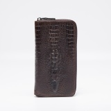 Spesifikasi Gaya Baru Pria Bisnis Genuine Leather Pouch Kulit Sapi Alligator Pola Dompet Fashion Panjang Dengan 12 Slot Kartu Brown Intl Terbaru