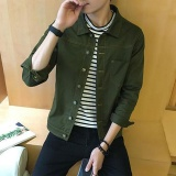 Beli Gaya Baru Jaket Denim Fashion Slim Denim Coat Green Intl Nyicil
