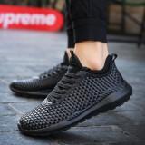 Gaya Baru Mesh Sneaker Untuk Pria Fashion Renda Up Mens Sport Sepatu Intl Murah