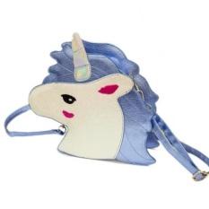 Gaya Baru Tas Wanita Baru Fashion Paket Merek Kopling Casing Dompet Dompet Desain Unik Laser Cute Unicorn Diamond Shape Amplop -Intl