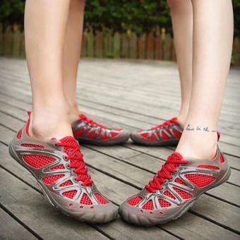 Beli sekarang Gaya Baru Di Luar Ruangan Pria/Wanita Sepatu Gunung Khusus Di Air Bernapas Cepat Kering-Merah-Intl terbaik murah - Hanya Rp262.368
