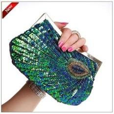 Gaya Baru Murni Buatan Tangan Wanita Tas Tangan. Cincin Berlian Mengkilap  Merak Bulu Full Payet db9e72b8d0