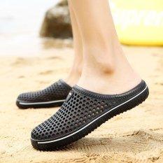 Baru Musim Panas Sandal Jepit Antiskid Han Edition Tide Pria Setengah Sandal Pria Lubang Saat Ini Lubang Baotou Sandal Flip-flops-Intl