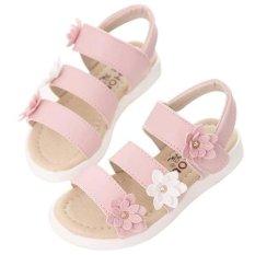 Baru Sandal These Flowers Panas Musim Gadis Mode Dia Dansa Putri (Berwarna Merah Muda)