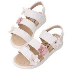 Beli Baru Sandal These Flowers Panas Musim Gadis Mode Dia Dansa Putri Putih Oem