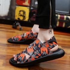 Laki-laki Baru Musim Panas Sandal Olahraga Pantai dan Rekreasi Sepatu Pria Sepatu Roman Youth Korea Sandal-Intl