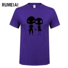 Baru Musim Panas Tees CrossFit T Shirts Men Kaos Bermerk Atasan Fitness Tees Skull Swag Cotton O Neck Pakaian Lengan Pendek (ungu) -Intl