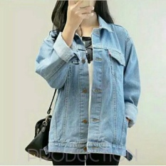 Harga New Tenda Jacket Jeans Denim Wanita Trendy Oversize Bioblits Online Jawa Barat