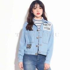 New Tenda - Jaket Jeans Denim Wanita  Light Blue
